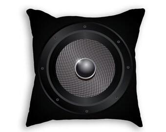 Speaker Throw Pillow, Decorative Musical Speaker Pillow