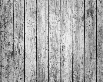 Distressed Old Wood Backdrop - vintage white plank, wooden floor - Printed Fabric Photography Background G0219
