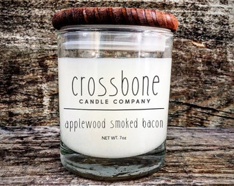 APPLEWOOD SMOKED BACON - No. 34 - Soy Candle - by Crossbone Candle Co.