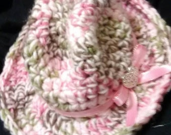 Crochet cowgirl hat.
