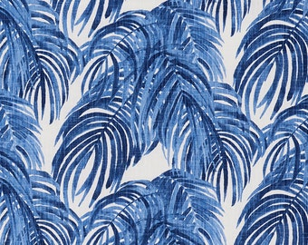 Sham Villa Palm Leaf Wedgewood Blue