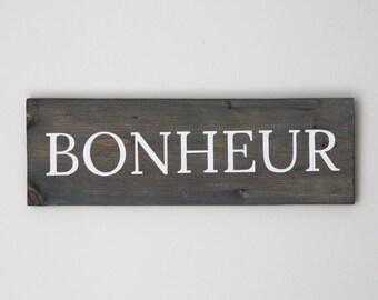 Bonheur Wooden Decoration