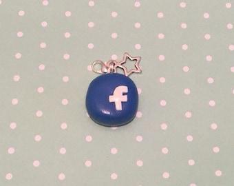 Polymer Clay Facebook Charm
