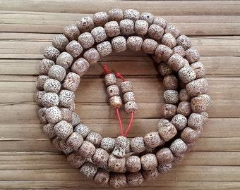 10 MM Genuine Seeds of Rattan 108 Beads Japa Mala Meditation Prayer