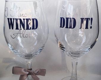 Grad School Graduation Gift,  School Graduation Gift, Personalized Wine Glass, Graduation Wine Glass, Graduation Gift, Class of 2016