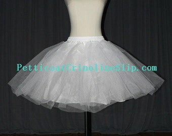 Quality 3 layers Hard Tulle Short dress Petticoat Underskirt Slip Crinoline PTCT031 Petticoats SALE