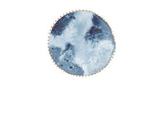 """PRINT """"Perfect Moon"""" from Original Watercolor - Art - Framed - Home Decor -"""