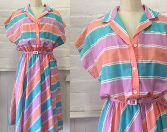 Vintage candy stripe dress