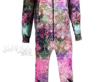 Pineal Metatron Galaxy MOONSIE by Set4Lyfe & MetaStazi. Universe Wear Onesie, Sublimation Printing