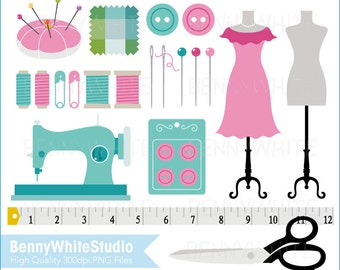 Sewing Machine Needle & Threads Clip Art, For Personal and Small Commercial Use. B-0129.