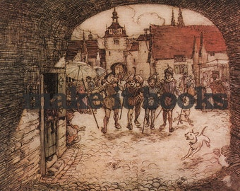 Arthur Rackham - The Four Brothers - The Four Clever Brothers - Brothers Grimm Fairy Tales