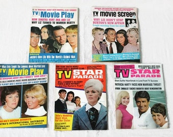 1960s Gossip Magazines, Vintage Celebrity Magazines, Vintage Tabloid, TV & Movie Play, TV Star Parade, TV and Movie Screen, Celebrity Gossip