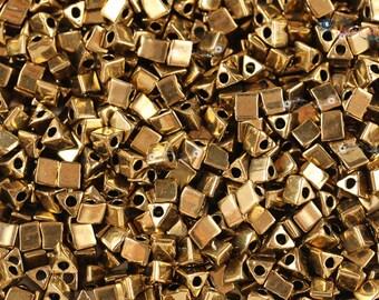Miyuki 5/0 Sharp Triangle Beads - Metallic Dark Bronze [ STR5-457]