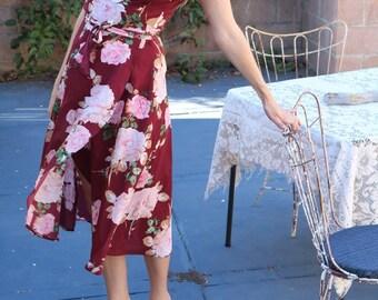 Garden Party Floral Wrap Dress