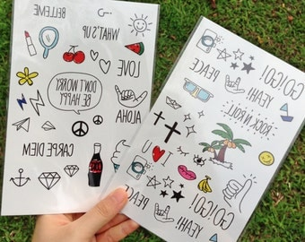Cute Summer Special  - Temporary Tattoos // Body Art // Cool // Tumblr Style // Summer // Party