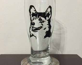 Corgi Pilsner Glass
