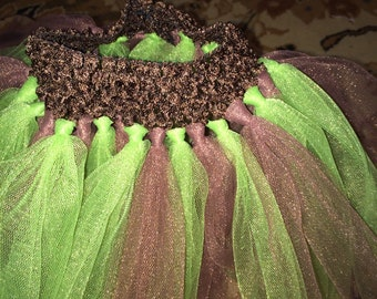 Green/brown tutu
