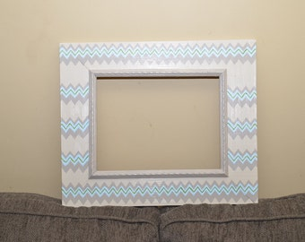 painted chevron frame 4x6 5x7 8x10 11x14 wooden frame