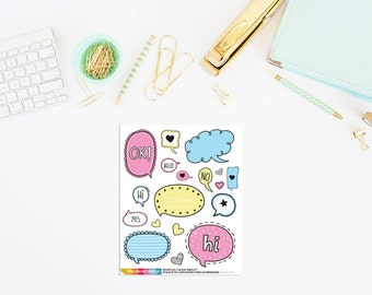 Whatchu Talkin' About Planner Stickers   Talk Bubble Stickers   Talk Bubble Planner Stickers (18 Stickers)