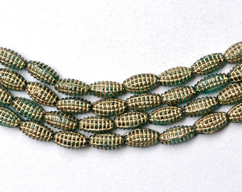 Small Czech Glass Beads - Corn on the Cob - Various Colors  - 10mm x 5mm - Qty 25