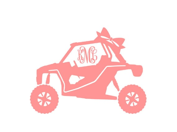 Rzr Yeti Decal With Bow And Monogram 30 By