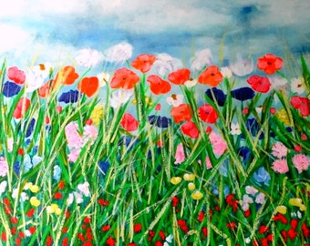 Limited Edition Giclee Print - Wild Poppies