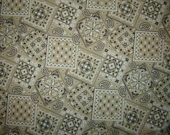 Tan Bandana Fabric