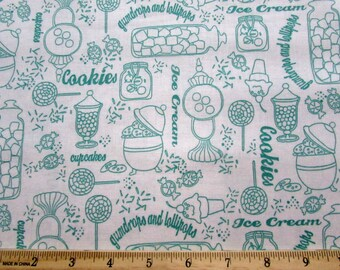 Gum Drops and Lollipops Green Fabric From Quilting Treasures