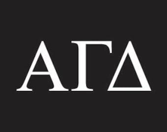 alpha gamma delta sorority greek letters decal vinyl window bumper car laptop sticker any size any color free shipping worldwide