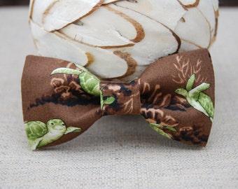 Brown Sea Turtle Bow tie