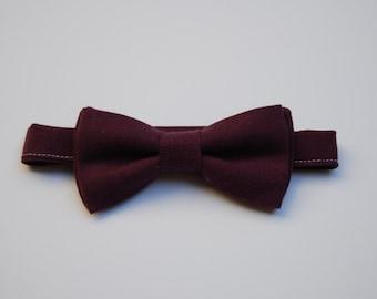 Dark purple bow tie
