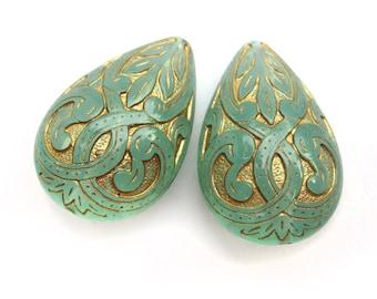 2 piece ornament drops Pacific Opal
