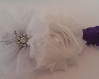 White Flower Baby Headband, Toddler Headband, Girl Headband