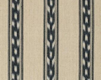 SCHUMACHER MOJAVE Southwest Ikat Stripe Fabric 10 Yards Ebony