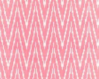 SCHUMACHER KASARI IKAT Flamestitch Fabric 10 Yards Berry