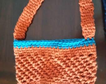 Small Market Bag, Crochet Tote Bag, Shoulder Bag, Crochet Beach Bag, Hobo Bag, Slouch Bag, Overnight Bag