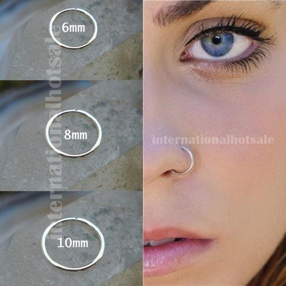 Fake Nose Ring Hoop Custom Size 6mm 8mm by ...  Fake Nose Ring ...