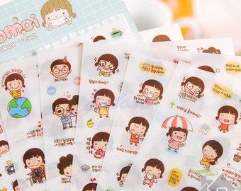 Momoi Sticker Ver.2 Stickers / Kawaii Stickers / 6 sheets / Planner Stickers / Cute Stickers / Sticker Sheets / Korean Stickers / Stationery