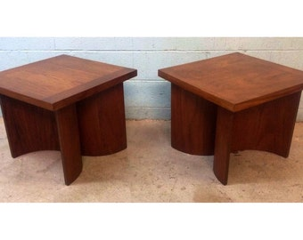bentwood mid century walnut tables by kroehler - Kroehler Furniture