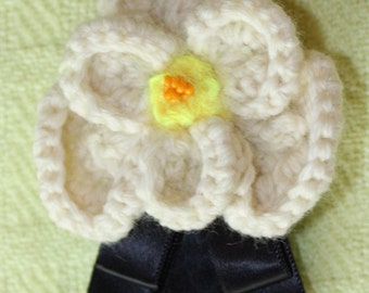 Chanel Style Knitted Brooch