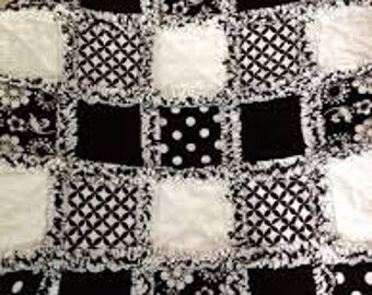 Rag quilt any size available
