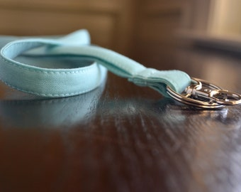 Custom Personalized Lanyard - Light Turquoise, Six Font Choices - Perfect Athlete, Coach, Teacher Gift