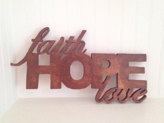 Faith hope love wall decor hope decor faith by for Faith decor