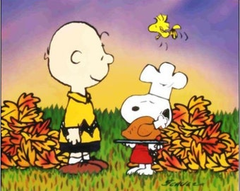 """2"""" x 3"""" Magnet Snoopy's Thanksgiving with A Turkey Fridge"""