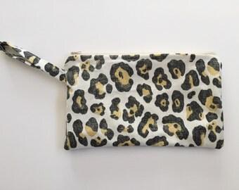 Leopard Wristlet Clutch