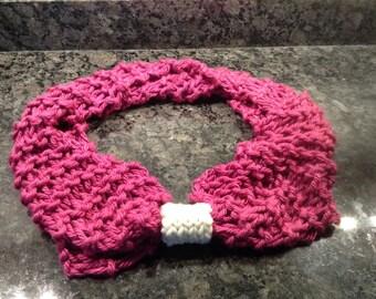 Fuchsia Large Knit Infinity Scarf