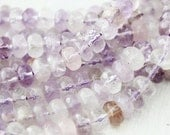 Light Amethyst 8mm Faceted Rondelle - Purple Beads Genuine Natural Gemstones Full Strand A Quality Rondelle Beads