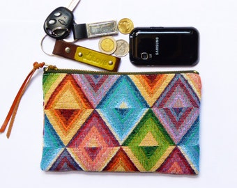 Pouch canvas,Coin Purse,clutch,pencil bag,pencil case,zipper pouch,Makeup Bags,Cosmetic Bags,Back to School
