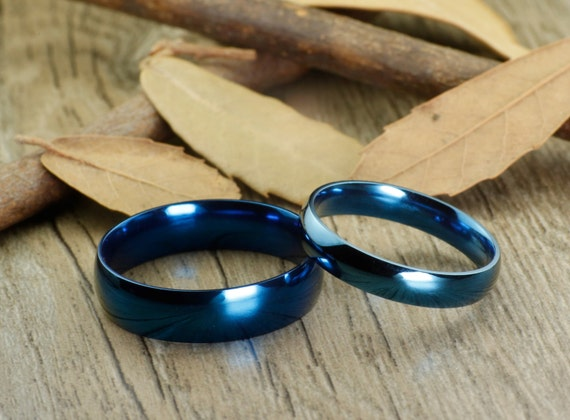 personalized promise ring handmade blue anywords his
