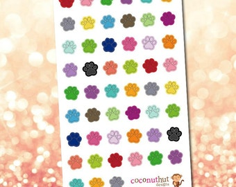 Paw Prints / Animal / Pet Planner Stickers